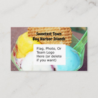 """Sweetest Town"" - Bay Harbor Islands, Florida Business Card"