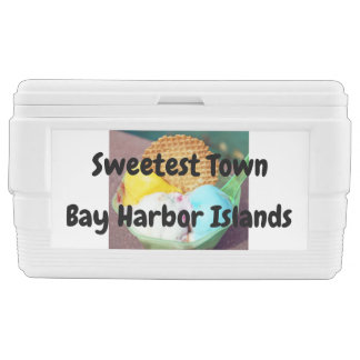 """Sweetest Town"" - Bay Harbor Islands, Florida Chest Cooler"