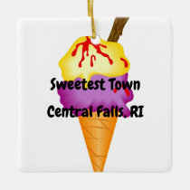 """Sweetest Town"" - Central Falls, Rhode Island Ceramic Ornament"