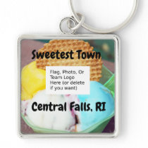 """Sweetest Town"" - Central Falls, Rhode Island Keychain"
