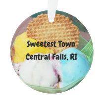 """Sweetest Town"" - Central Falls, Rhode Island Ornament"