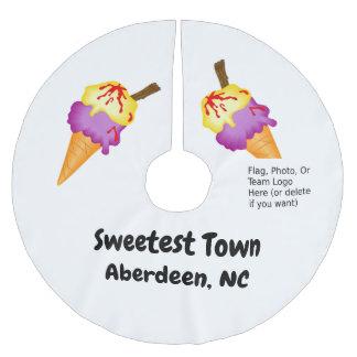 """Sweetest Town"" Design - Aberdeen, North Carolina Brushed Polyester Tree Skirt"