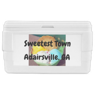 """Sweetest Town"" Design For Adairsville, Georgia Chest Cooler"