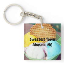 """Sweetest Town"" Design For Ahoskie, North Carolina Keychain"