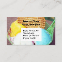 """Sweetest Town"" Design For Akron, New York Business Card"