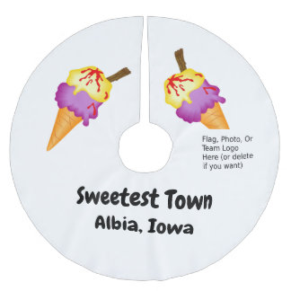 """Sweetest Town"" Design For Albia, Iowa Brushed Polyester Tree Skirt"