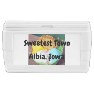 """Sweetest Town"" Design For Albia, Iowa Chest Cooler"