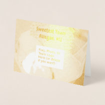 """""""Sweetest Town"""" Design For Allegan, Michigan Foil Card"""