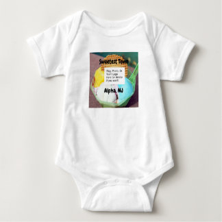 """Sweetest Town"" Design For Alpha, New Jersey Baby Bodysuit"