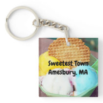 """Sweetest Town"" Design For Amesbury, Massachusetts Keychain"