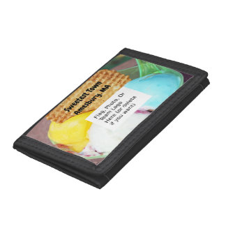 """""""Sweetest Town"""" Design For Amesbury, Massachusetts Trifold Wallet"""