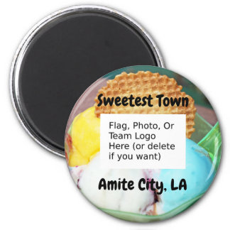 """""""Sweetest Town"""" Design For Amite City, Louisiana Magnet"""