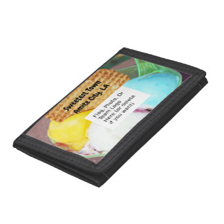 """""""Sweetest Town"""" Design For Amite City, Louisiana Trifold Wallet"""