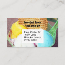 """Sweetest Town"" Design For Anadarko, Oklahoma Business Card"
