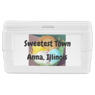 """Sweetest Town"" Design For Anna, Illinois Chest Cooler"