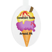 """Sweetest Town"" Design For Arnold, Pennsylvania Ornament"