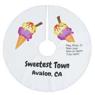 """Sweetest Town"" Design For Avalon, California Brushed Polyester Tree Skirt"
