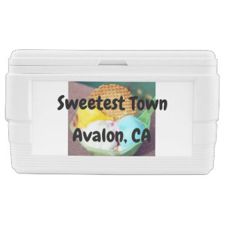 """Sweetest Town"" Design For Avalon, California Chest Cooler"
