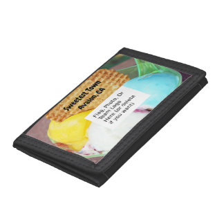 """""""Sweetest Town"""" Design For Avalon, California Trifold Wallet"""