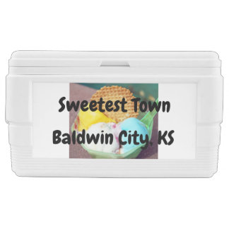 """Sweetest Town"" Design For Baldwin City, Kansas Chest Cooler"