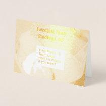 """Sweetest Town"" Design For Baldwyn, Mississippi Foil Card"