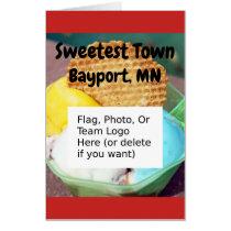 """Sweetest Town"" Design For Bayport, Minnesota Card"