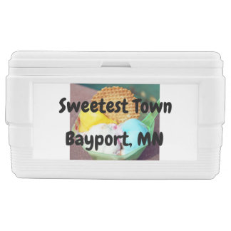 """Sweetest Town"" Design For Bayport, Minnesota Chest Cooler"