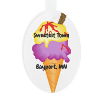 """Sweetest Town"" Design For Bayport, Minnesota Ornament"