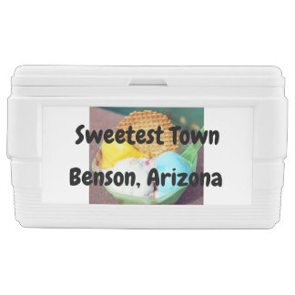 """Sweetest Town"" Design For Benson, Arizona Chest Cooler"