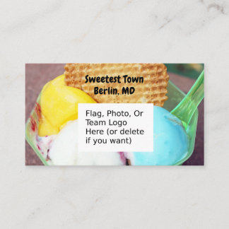 """Sweetest Town"" Design For Berlin, Maryland Business Card"