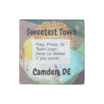 """""""Sweetest Town"""" Design For Camden, Delaware Stone Magnet"""