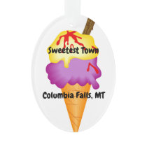 """Sweetest Town"" Design For Columbia Falls, Montana Ornament"