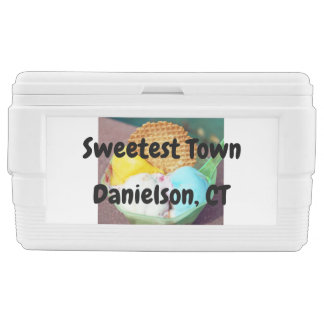 """Sweetest Town"" Design For Danielson, Connecticut Chest Cooler"