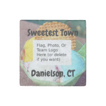"""""""Sweetest Town"""" Design For Danielson, Connecticut Stone Magnet"""