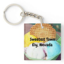 """Sweetest Town"" Design For Ely, Nevada Keychain"