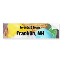"""Sweetest Town"" Design For Franklin, New Hampshire Bumper Sticker"