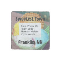 """""""Sweetest Town"""" Design For Franklin, New Hampshire Stone Magnet"""