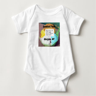 """Sweetest Town"" Design For Glasgow, Montana Baby Bodysuit"