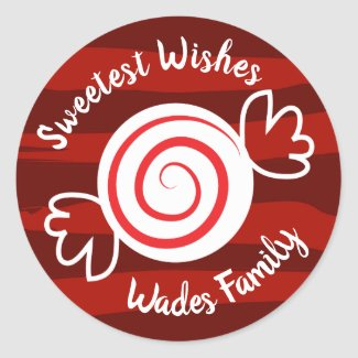 Sweetest Wishes Peppermint Candy Envelope Seals