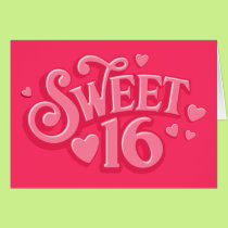Sweetheart 16 card