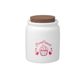 SWEETHEART APPLIQUE CANDY JAR