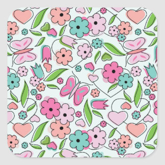 Sweetheart Aqua Square Sticker