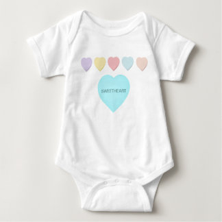 Sweetheart Baby Mint Green Hearts Infant Creeper