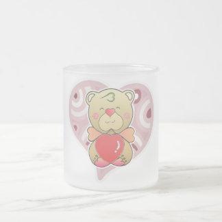 Sweetheart Bear Frosted Glass Coffee Mug