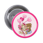 Sweetheart Bears 2 Inch Round Button