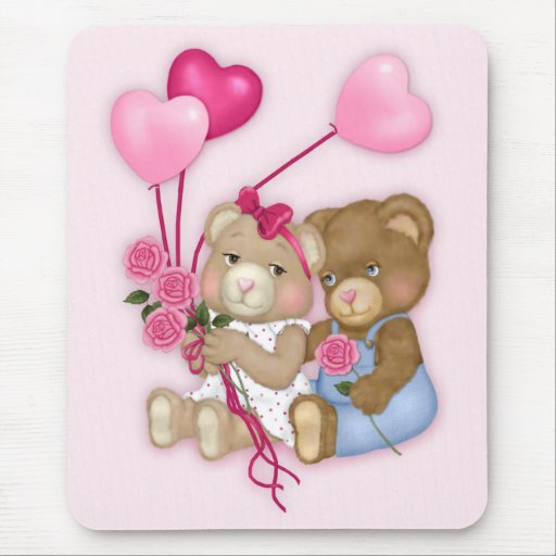 Sweetheart Bears Mouse Pads