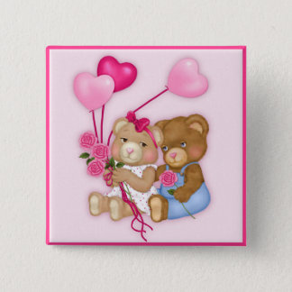 Sweetheart Bears Pinback Button