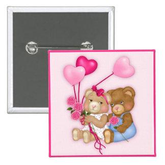 Sweetheart Bears Pinback Button