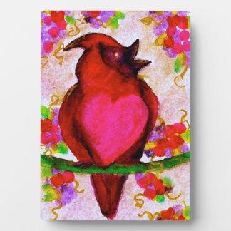 Sweetheart Bird-Original Art by SQ Streater Plaque