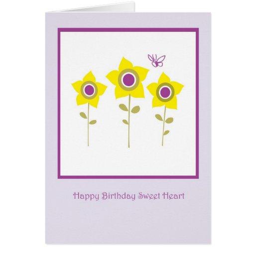 Sweetheart Birthday Greeting Card